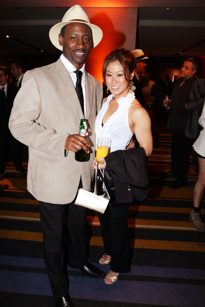 Ian Burrell, Ambassador of Rum with Priscilla from Sou Soul in Melbourne