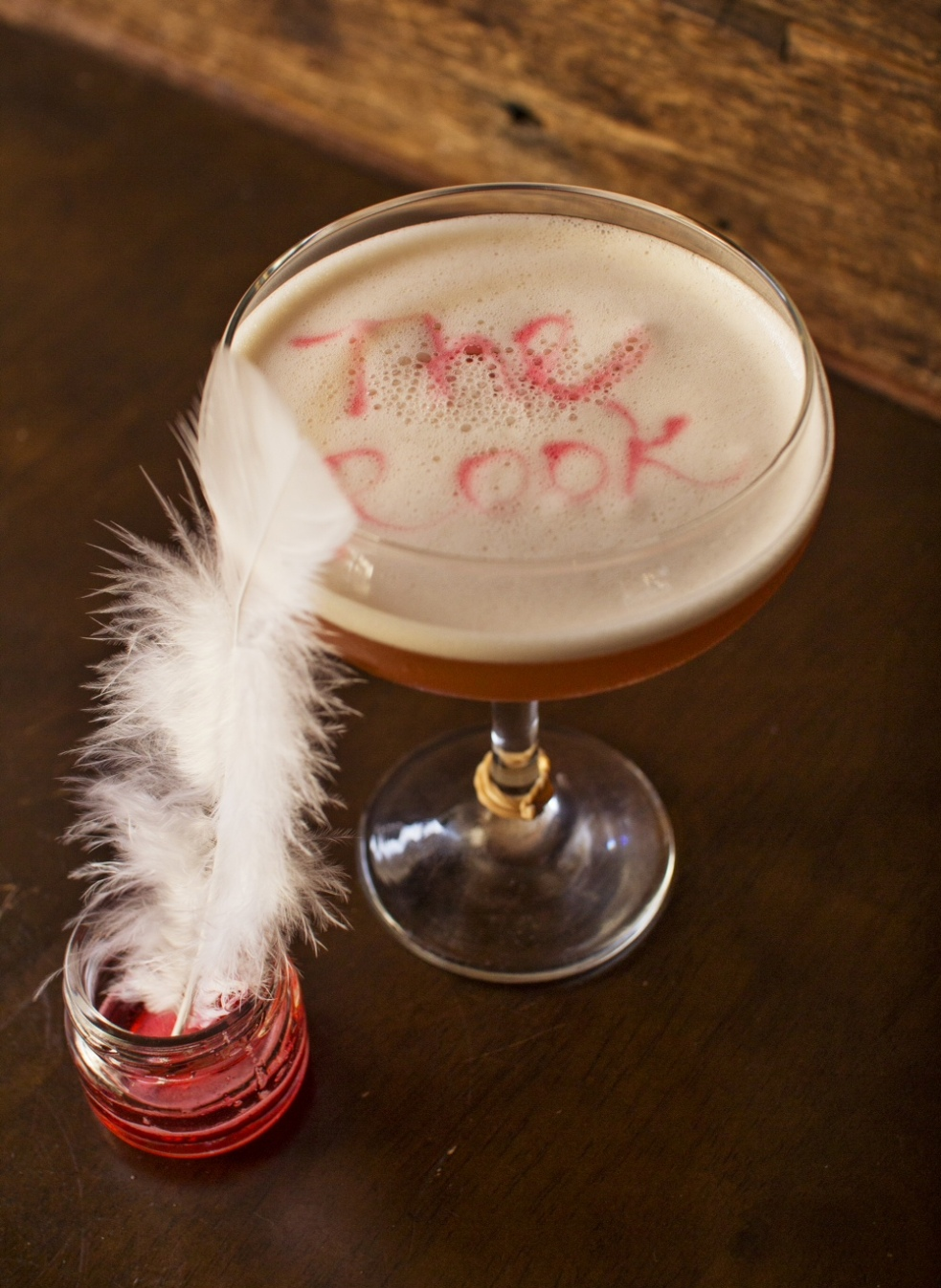 calligraphy cocktail